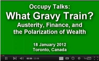 Occupy Talks: What Gravy Train?